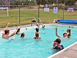 Youth enjoy their time in the Bunkhouse's pool.