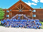 Church youth groups love to stay at the Ranch; these all have matching blue T-shirts.