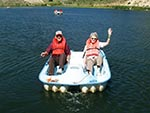 Even the elderly spend time on the lake at Reid Ranch.