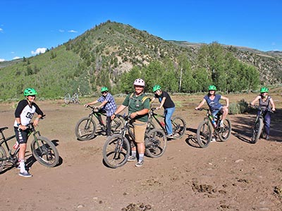 Mountain biking picture (links to mountain biking page)