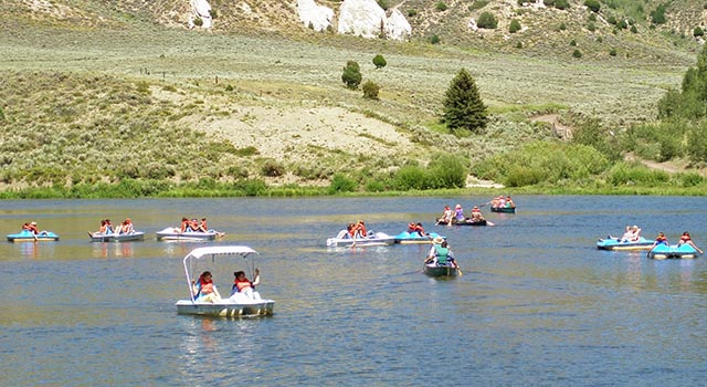 Picture of lake activities (links to the video gallery page)