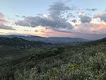 A sunset view from the Fossil Mountain Hike.